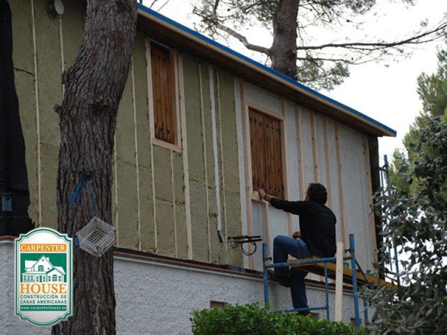 Reforma de una casa de obra tradicional.
